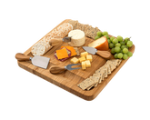 Bamboo Cheese Board Cutlery Set