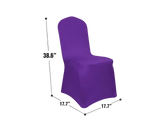 Spandex Dining Chair Cover PURPLE 1pc