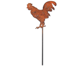Rooster Garden Stake