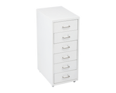 Metal Cabinet 6 Drawers White