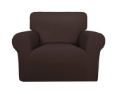1 Seater Sofa Cover Brown