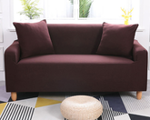 3 Seaters Sofa Cover Brown
