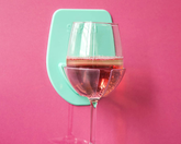 Wall Mounted Wine Glass Holder Green