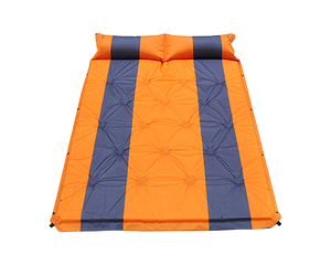 Camping Self Inflating Mat Double Orange