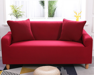 3 Seaters Sofa Cover Red