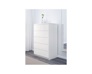IKEA Malm Clothes Drawer Tallboy 6 Drawers White