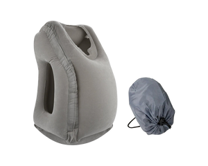 Inflatable Travel Pillow Neck Support Grey