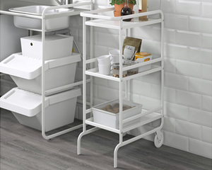 IKEA  Kitchen Trolley SUNNERSTA White