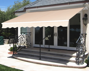 Retractable Awning Sun Shade Beige 4x3M