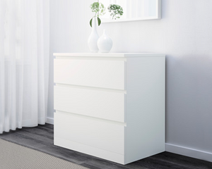 IKEA Drawer Malm 3 Drawers White