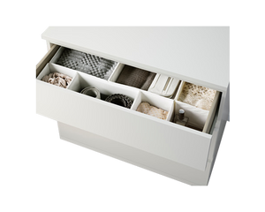MALM Clothes Drawers 3 Drawers White