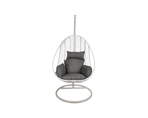 Hanging Egg Chair Outdoor  White Rattan