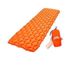 Air Bed Mattress Camping Sleeping Bag TPU Orange