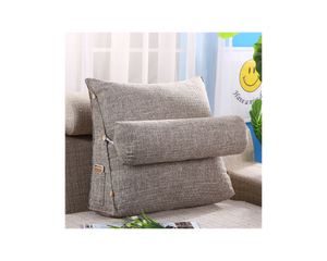 Triangle Pillow Back Support Cushion Coffee