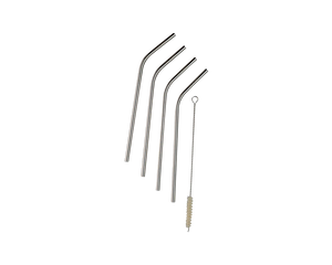 Save Planet A Reusable Metal Straws W/Cleaner 4pk