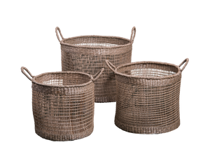 General Eclectic Aldo Seagrass Baskets Set of 3