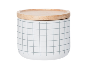 General Eclectic Small Canister Grey Grid