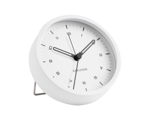 Karlsson Tinge Alarm Clock White