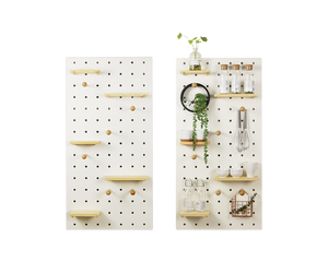 Wooden Pegboard 60x120cm White