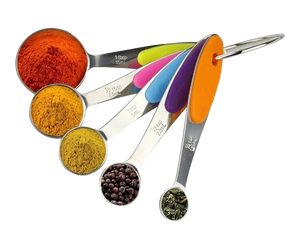 Stainless Steel Measuring Spoon Rainbow Set of 5