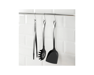 IKEA DIREKT 3-piece Kitchen Utensil Set Black Stainless Steel
