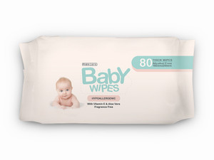 3 x Baby Wipes 80-Pack Fragrance Free