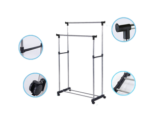 Double Clothes Rack Stand