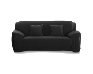 2 Seaters Sofa Cover Black