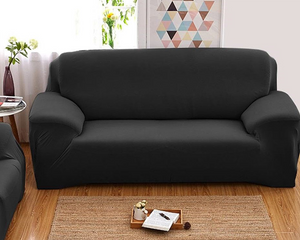 3 Seaters Sofa Cover  Black
