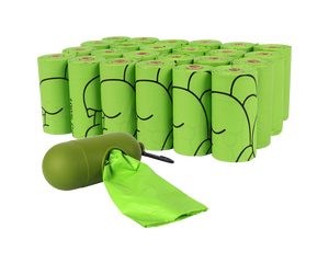 180 Biodegradable Dog Poop Bags with Dispenser