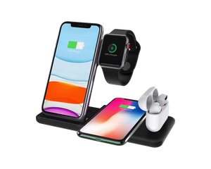 4-in-1 Wireless Charging Dock Station For iPhone, AirPod & Apple Watch
