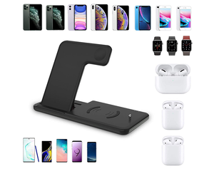 4-in-1 Wireless Charging Dock Station For iPhone  AirPod & Apple Watch