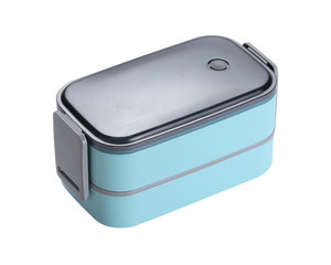 Steel Bento Lunch Box Blue