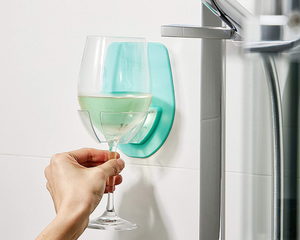 Wine Glass Holder For Bath Shower green