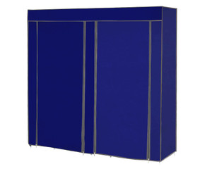 Shoe Storage Rack Cabinet 2 Doors Blue