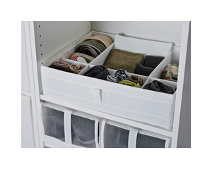 IKEA Skubb Box Drawer Organiser White