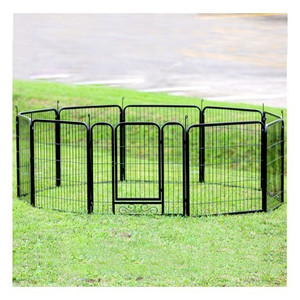 Dog Pet Execise Playpen 10 Panels Black