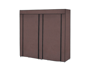 Shoe Rack Storage 2 Doors With Cover Brown