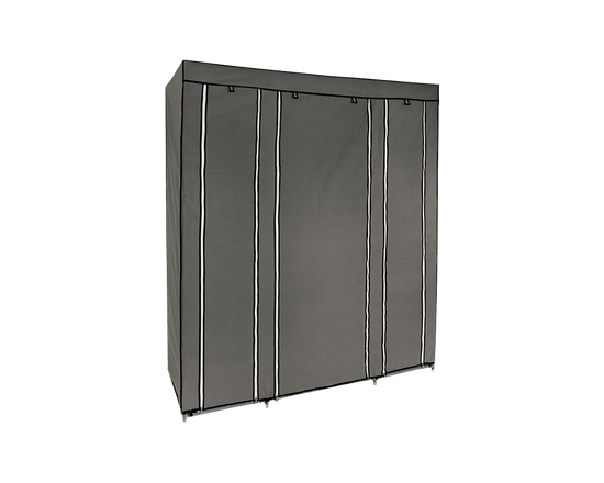 Grey Portable Wardrobe With Cover