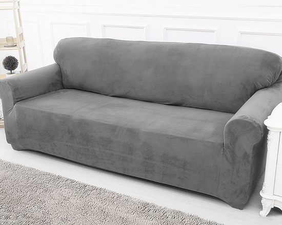 Sofa Cover 4 Seaters Grey