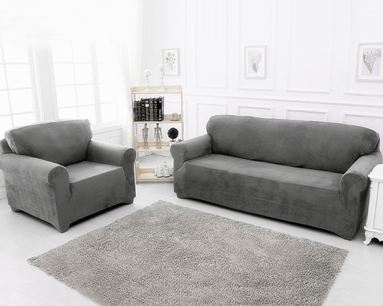 4 Seaters Sofa Cover Grey