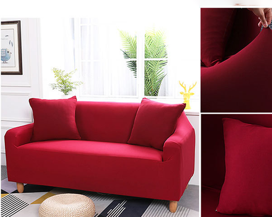 2 Seaters Sofa Cover Red