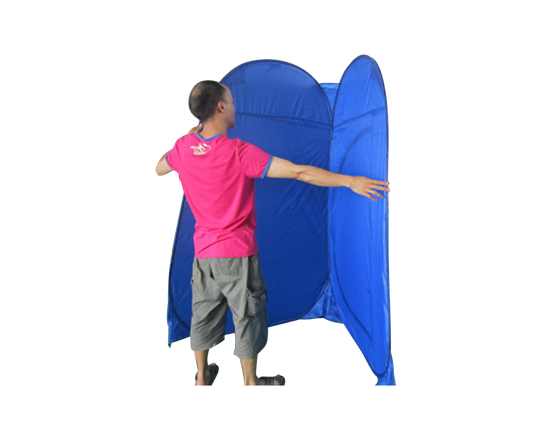 Camping Toilet And Shower Tent Blue