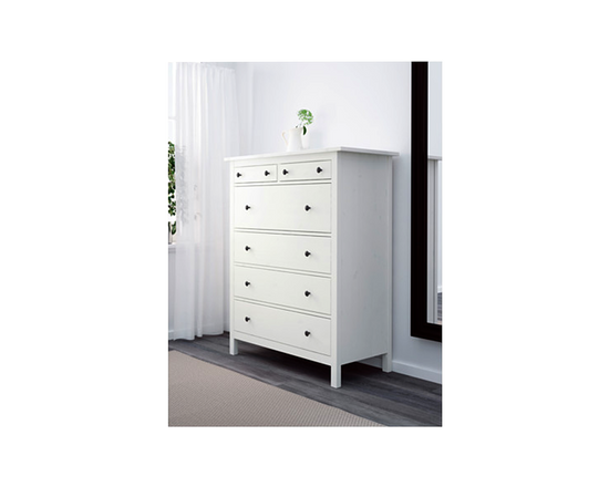 IKEA Hemnes Drawer Tallboy 6 Drawers White