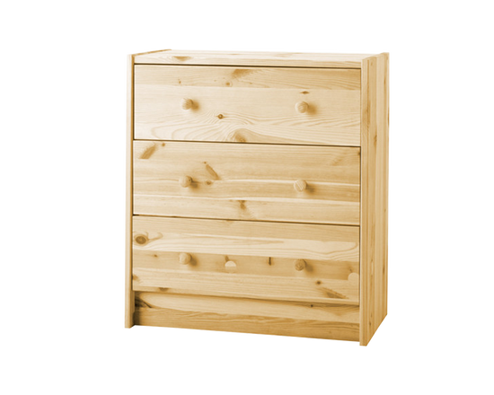 RAST Clothes Drawer 3 Drawers Pine