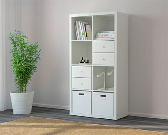 IKEA KALLAX Storage Bookshelf 2x4 White