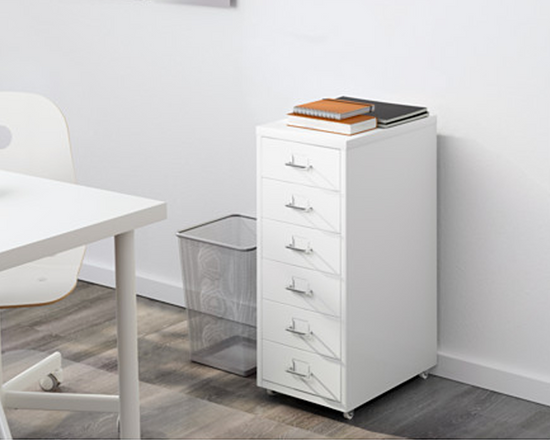 IKEA Helmer Office Drawer White 6 Drawers