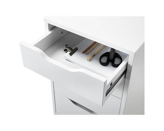 IKEA ALEX Office Drawer White 5 Drawers
