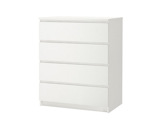 IKEA MALM White Clothes Drawer 4 Drawers