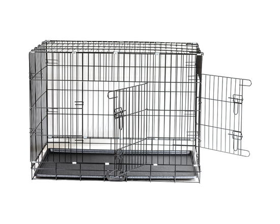 Folding Dog Crate Kennel Double Door 48 Inch